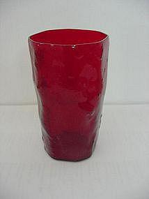 Morgantown Crinkle Juice Tumbler - Ruby
