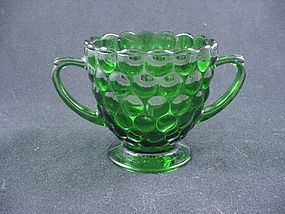 Bubble Forest Green Sugar Bowl
