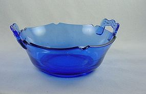 Mt Pleasant Cobalt  Handled Bowl