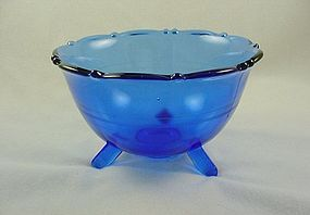 Mt Pleasant Cobalt 3 Footed Mayo Bowl