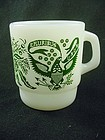 FireKing Shaving Set Eagle Mug - Green