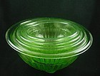 Kitchenware - Hocking Green Mixing Bowl Set