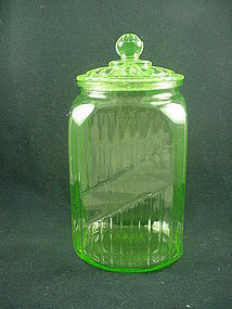Kitchenware - Hocking Green Canister Jar & Cover