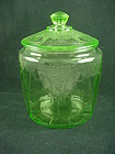 Cameo Cookie Jar & Cover - Green