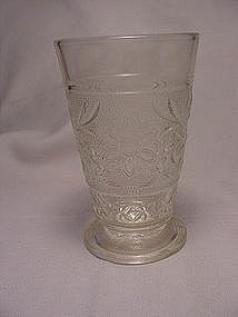 Sandwich Footed Tumbler - Crystal