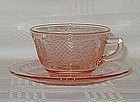 Normandie Pink Cup & Saucer Set - Depression
