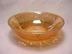 Iris & Herringbone Beaded Edge Berry Bowl - Iridescent