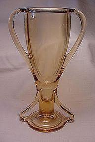 Fostoria Tut Vase - Amber