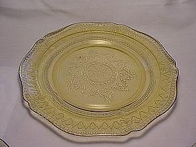 Patrician Spoke Luncheon Plate - Amber