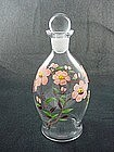 Imperial Glass Hand Painted Decanter Bottle