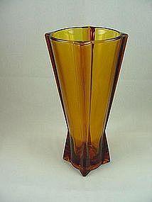 FireKing Rocket Vase - Desert Gold