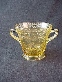 Patrician Spoke Sugar Bowl - Amber
