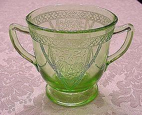 Georgian Lovebirds Sugar Bowl - Green