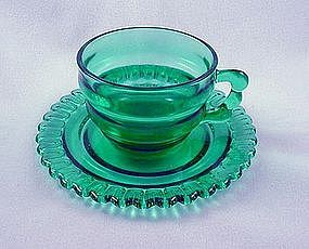 Christmas Candy Cup & Saucer Set - Terrace Green
