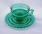 Christmas Candy Cup & Saucer Set - Terrace Green