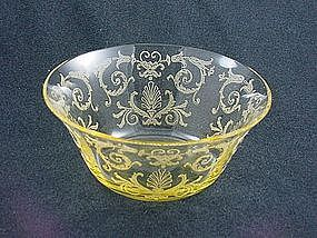 Fostoria Versailles Finger Bowl - Yellow