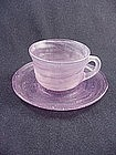Consolidated Catalonian Amethyst Cup & Saucer Set