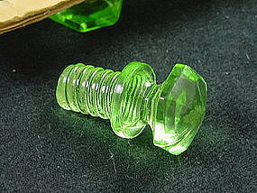 Kitchenware - Green Glass Drawer Pull Knob