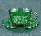 Sandwich Forest Green Cup & Saucer Set