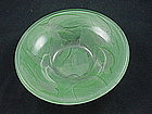 Consolidated Glass Swallows Bowl - Green Ceramic