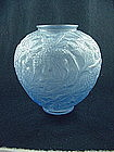 Consolidated Glass Pine-Cone Vase - Blue Crystal Satin