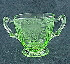 Cameo Sugar Bowl - Green