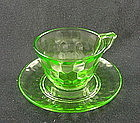 Hex Optic Cup & Saucer Set - Green