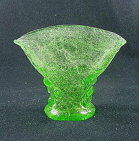Consolidated Catalonian Emerald Spanish Knobs Fan Vase