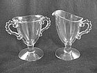 Imperial Candlewick Footed Sugar & Creamer Set