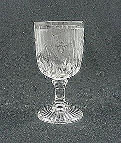 Iris & Herringbone Wine Goblet - Crystal