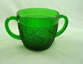 Sandwich Forest Green Sugar Bowl