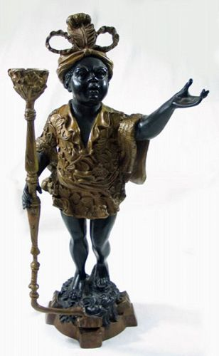 Cast Bronze Blackamoor