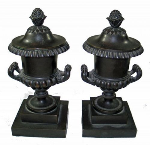 Neo-classical Bronze Urn, Pair