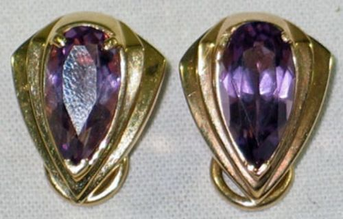 Amethyst Earrings with Amethyst Stones