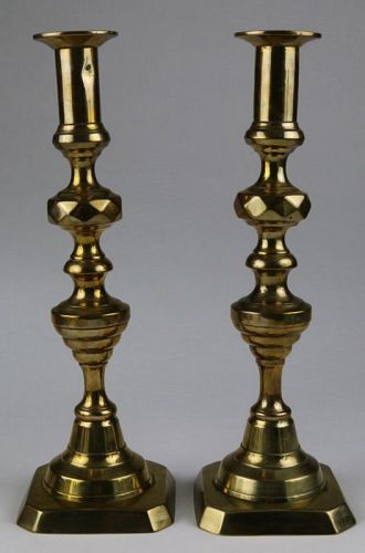 Beehive and Diamond Cut Candlestick Pair