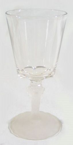 EAPG Water Goblet with Lion Head Stem