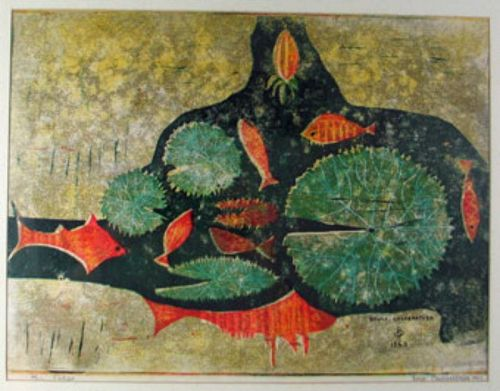 Fishes (Bruce Onobrakpeya)
