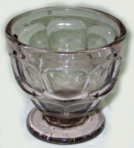 Flint Glass Open Sugar