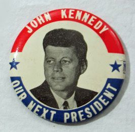 John Kennedy Campaign Button