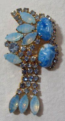 Juliana Brooch in Blue