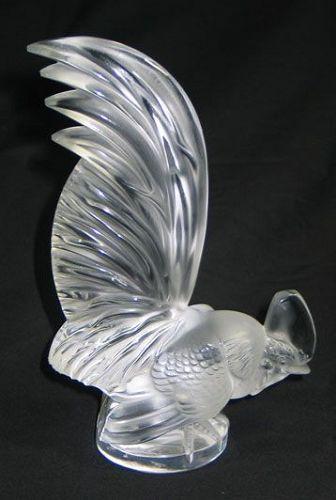 Lalique Coq Nain Sculpture