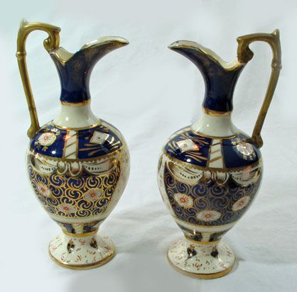 Matched Pair of Porcelain Ewers