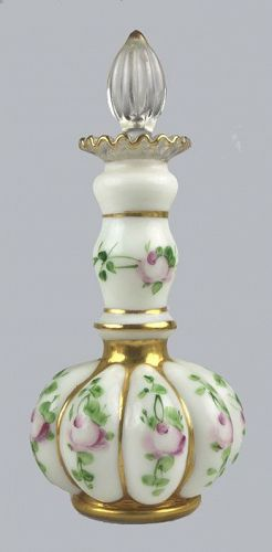 Milk Glass Scent Bottle