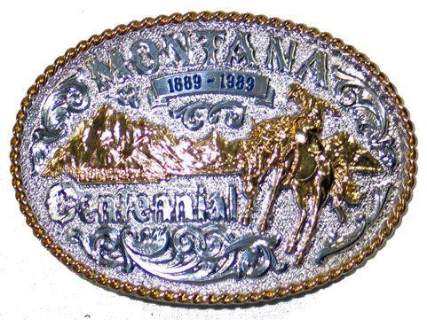 Montana Centennial Belt Buckle
