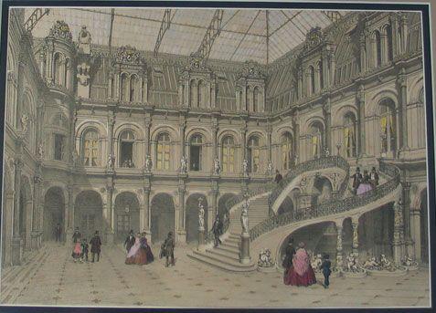 Palace Courtyard - Lithograph