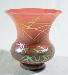 Pink Shade Vase (Attributed to Steuben)