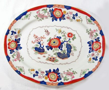 Polychrome Ironstone Platter