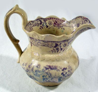 Purple Transferware Pitcher