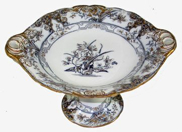 Wedgwood Pearlware Iris Compote