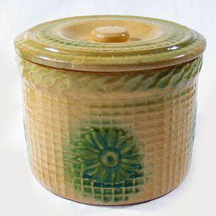 Yellow Ware Butter Crock